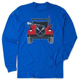 Guys Lacrosse Tshirt Long Sleeve - Chillax Cruiser