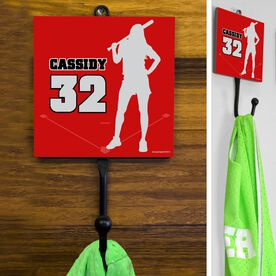 Softball Hook Personalized Player Silhouette