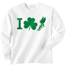 Track & Field Tshirt Long Sleeve I Shamrock Winged Foot