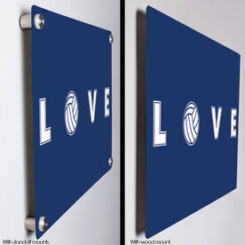 """Volleyball 18"""" X 12"""" Aluminum Room Sign - LOVE Volleyball"""