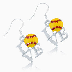 Love Softball Earrings