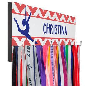 Gymnastics Hook Board Your Name With Gymnast Chevron