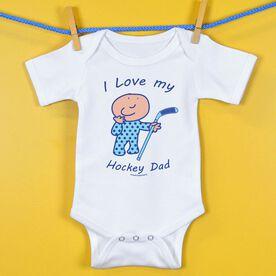 Hockey Baby One-Piece I Love My Hockey Dad