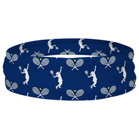 Tennis Multifunctional Headwear - Racket and Female Player Pattern RokBAND