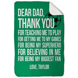 Soccer Sherpa Fleece Blanket - Dear Dad