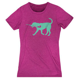 Field Hockey Women's Everyday Tee - Flick The Field Hockey Dog