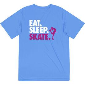Figure Skating Short Sleeve Performance Tee - Eat. Sleep. Skate.