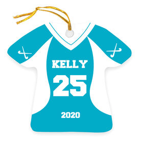 Field Hockey Ornament - Personalized Jersey