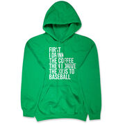 Baseball Hooded Sweatshirt - Then I Drive The Kids To Baseball