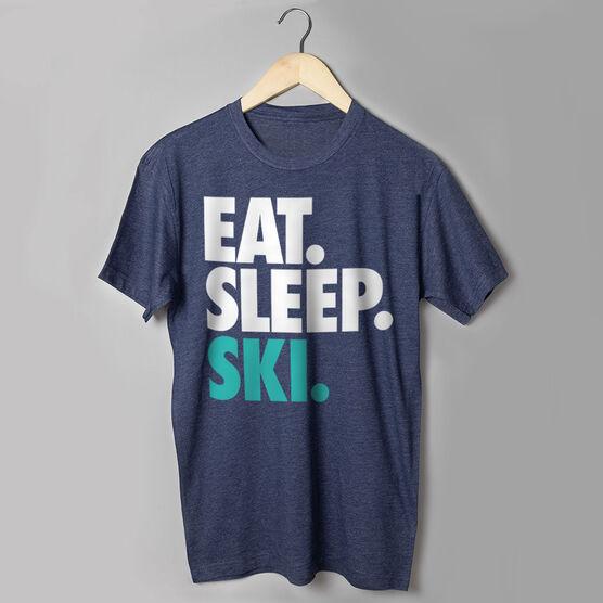 Skiing T-Shirt Short Sleeve Eat. Sleep. Ski.