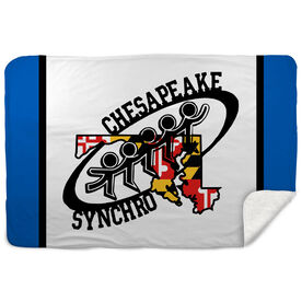 Sherpa Fleece Blanket - Chesapeake Synchronized Skating Logo