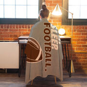 Football Premium Blanket - Eat. Sleep. Football. Vertical