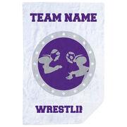 Wrestling Premium Blanket - Personalized Wrestling Crest
