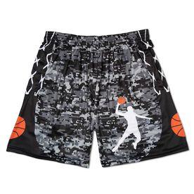 Digital Camo Basketball Shorts