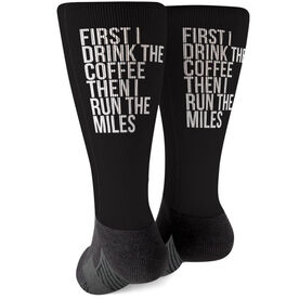 Running Printed Mid-Calf Socks - Then I Run The Miles