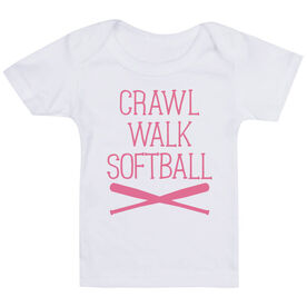 Softball Baby T-Shirt - Crawl Walk Softball