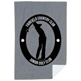 Golf Premium Blanket - Personalized Crest