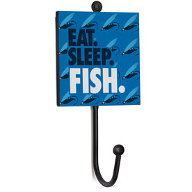Fly Fishing Medal Hook - Eat. Sleep. Fish.