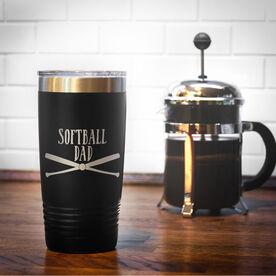 Softball 20oz. Double Insulated Tumbler - Softball Dad
