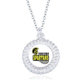 Tennis Braided Circle Necklace - Custom Logo