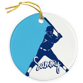 Softball Porcelain Ornament Personalized Softball Batter