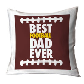 Football Pillow Best Dad Ever