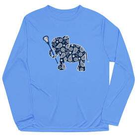 Girls Lacrosse Long Sleeve Performance Tee - Lax Elephant