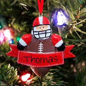 Football Ornament - Football Santa