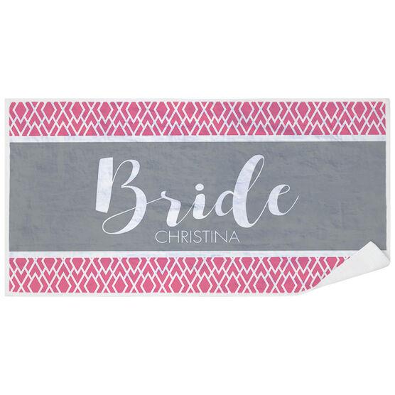 Personalized Premium Beach Towel - The Stylish Bride