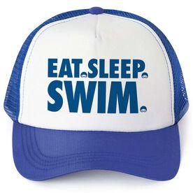 Swimming Trucker Hat - Eat Sleep Swim