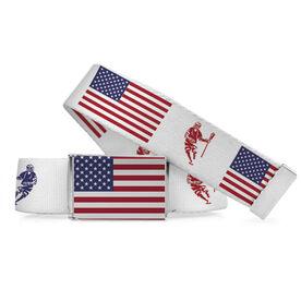 Lacrosse Lifestyle Belt USA flag