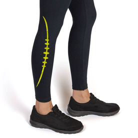 Football Leggings Football Stitches