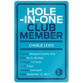 "Golf Aluminum Room Sign (18""x12"") Custom Hole In One"