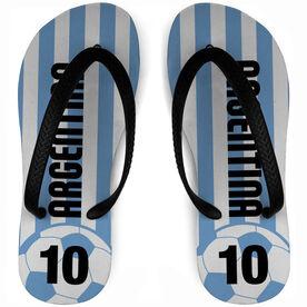 Soccer Flip Flops Argentina