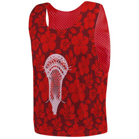 Guys Lacrosse Pinnie - Hibiscus Lax Stick Head