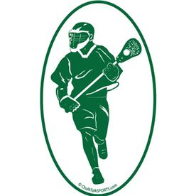Fast Break Lacrosse Oval Car Magnet (Green)