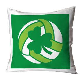 Volleyball Throw Pillow Shamrock Volleyball
