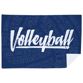 Volleyball Premium Blanket - Volleyball Words