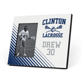 Lacrosse Photo Frame - Clinton Lacrosse Logo