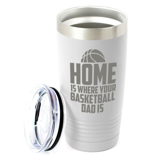 Basketball 20oz. Double Insulated Tumbler - Home Is Where Your Basketball Dad Is