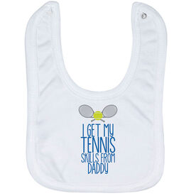 Tennis Baby Bib - I Get My Skills From
