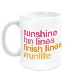 Running Coffee Mug - Sunshine Tan Lines Finish Lines