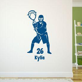 Lacrosse Removable ChalkTalkGraphix Wall Decal Personalized Lacrosse Goalie