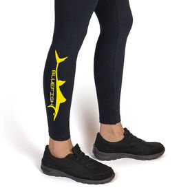 Fly Fishing Leggings Bluefish Silhouette
