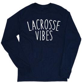 Girls Lacrosse Tshirt Long Sleeve - Lacrosse Vibes