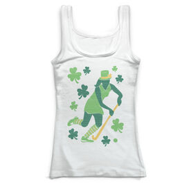 Field Hockey Vintage Fitted Tank Top - Play For St. Patrick's Day