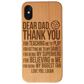 Volleyball Engraved Wood IPhone® Case - Dear Dad