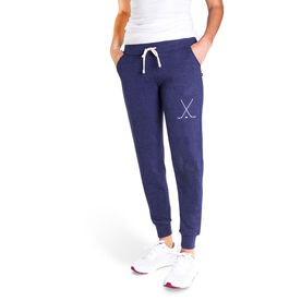 Hockey Women's Joggers - Hockey Stick Silhouette