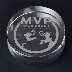 Wrestling Personalized Engraved Crystal Gift - MVP Award