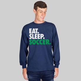 Soccer T-Shirt Long Sleeve Eat. Sleep. Soccer.